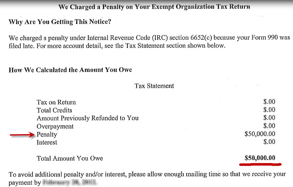 How To Remove An Irs Form 990 Late Filing Penalty Write An