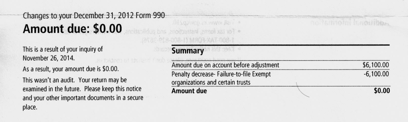 How to remove an IRS form 990 late filing penalty. Write an ...