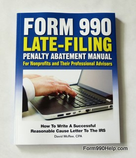 Form 990 penalty abatement book cover